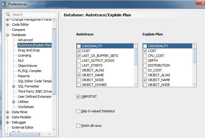SQL Developer 4 Explain Plan Options – Peasland Database Blog